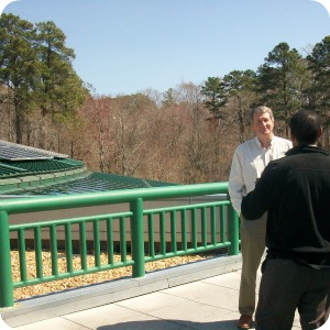 VLM Deputy Director Fred Farris talking about solar panel installation.